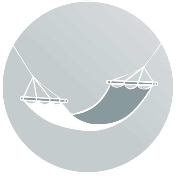 Houpací síť s tyčí KOALA
