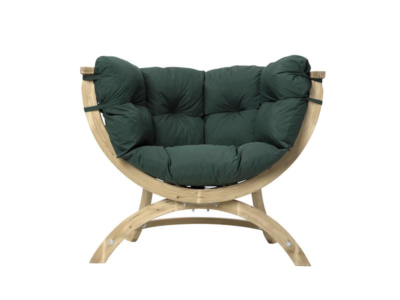 Fotel drewniany, Siena Uno green weatherproof