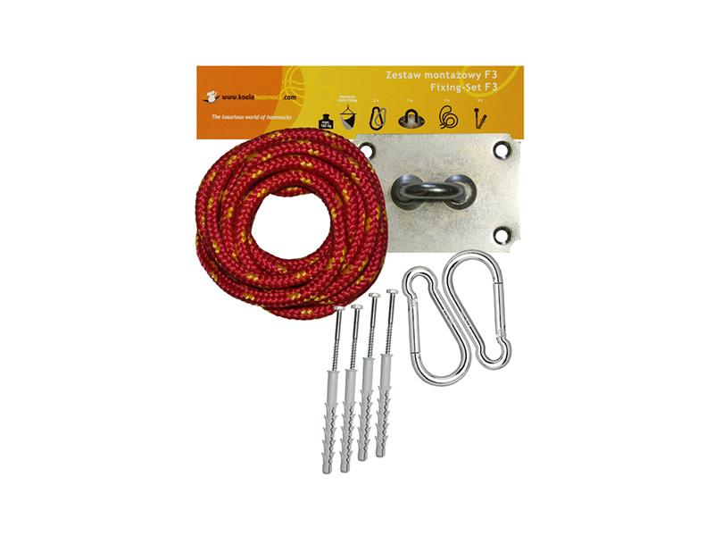 Zestaw montażowy do foteli hamakowych, czerwono-żółty koala/fix/ch2