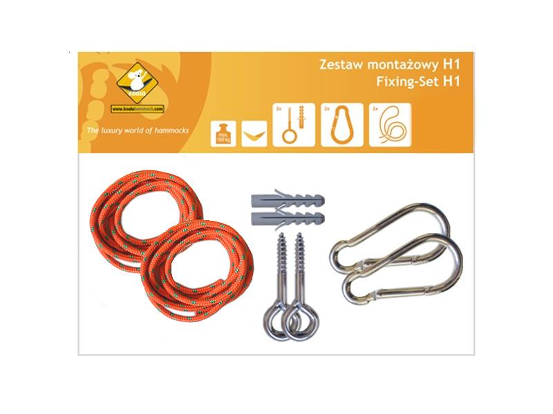 Zestaw montażowy H1_1 do hamaków, pomarańczowy koala/zh1_1
