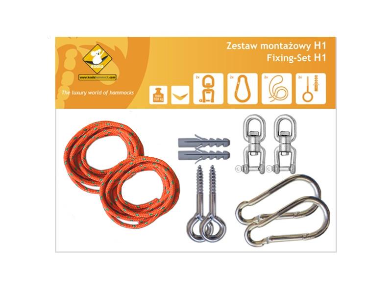 Zestaw montażowy H1 do hamaków, pomarańczowy koala/zh1