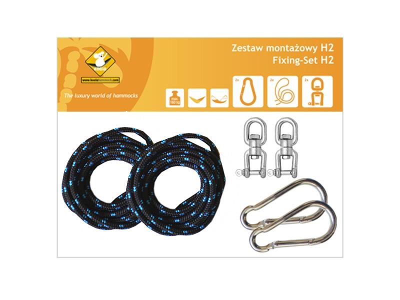 Zestaw montażowy H2 do hamaków, czarny koala/zh2