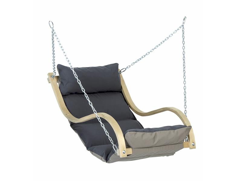 Drewniany fotel hamakowy, Szary Fat Chair