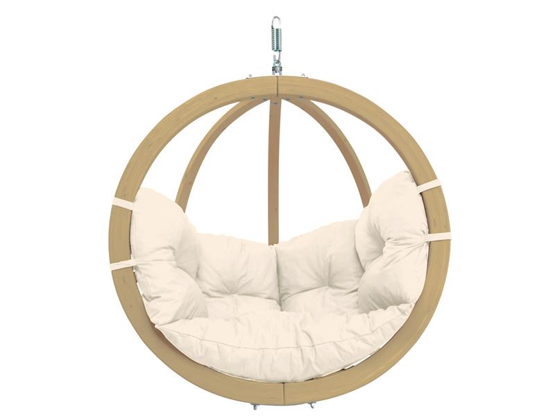 Fotel hamakowy drewniany, ecru Globo chair natura