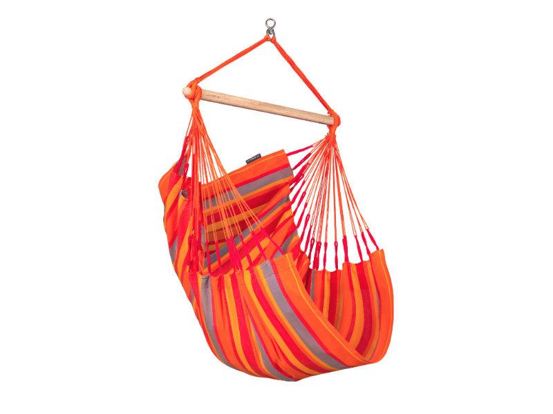 Fotel hamakowy Domingo, czerwono-pomarańczowy DOC14