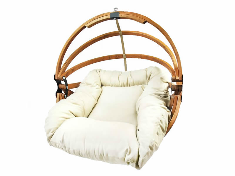 Fotel hamakowy drewniany, Gaya (M)-E