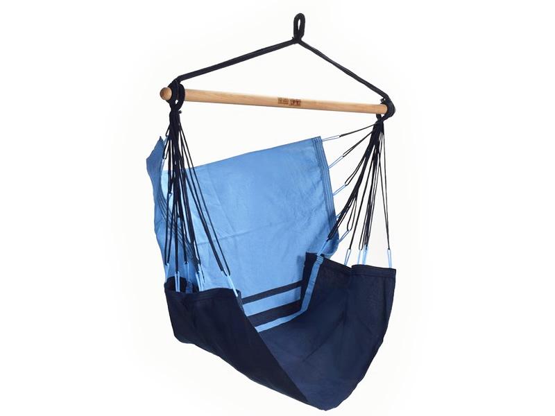 Fotel hamakowy, niebiesko-granatowy tranKil