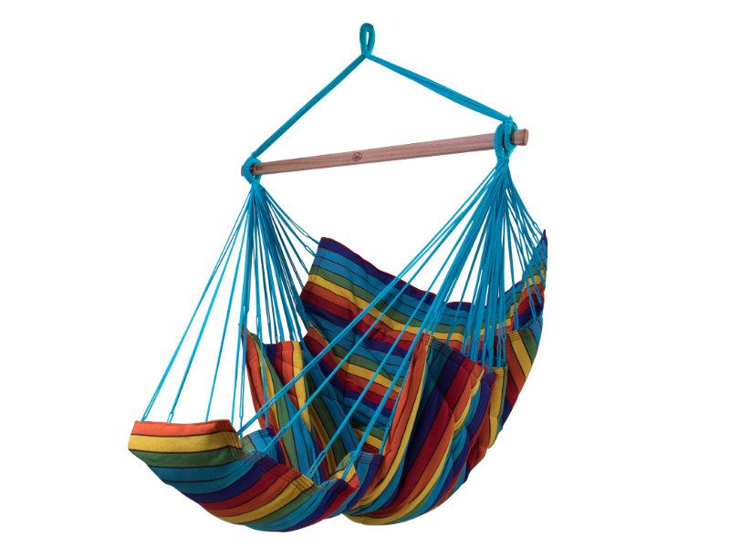 Fotel hamakowy z podstawką, Multicolore KONFORT XXL