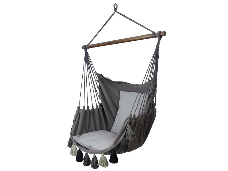 Fotel hamakowy, szaro-brązowy AHC-10