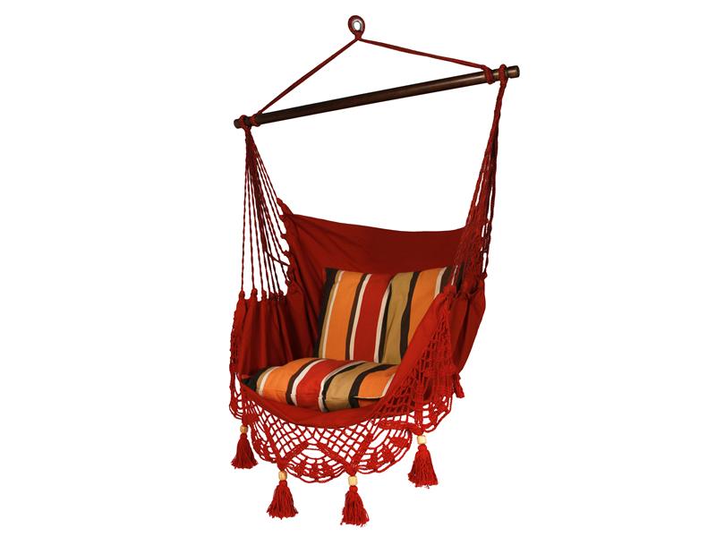 Fotel hamakowy, Czerwony AHC-11
