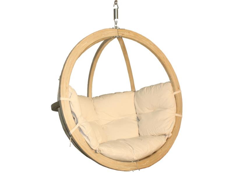 Fotel hamakowy drewniany, cappuccino Swing Chair Single (2)