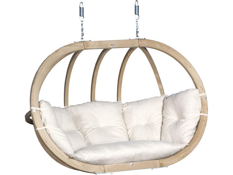Fotel hamakowy drewniany, ecru Swing Chair Double