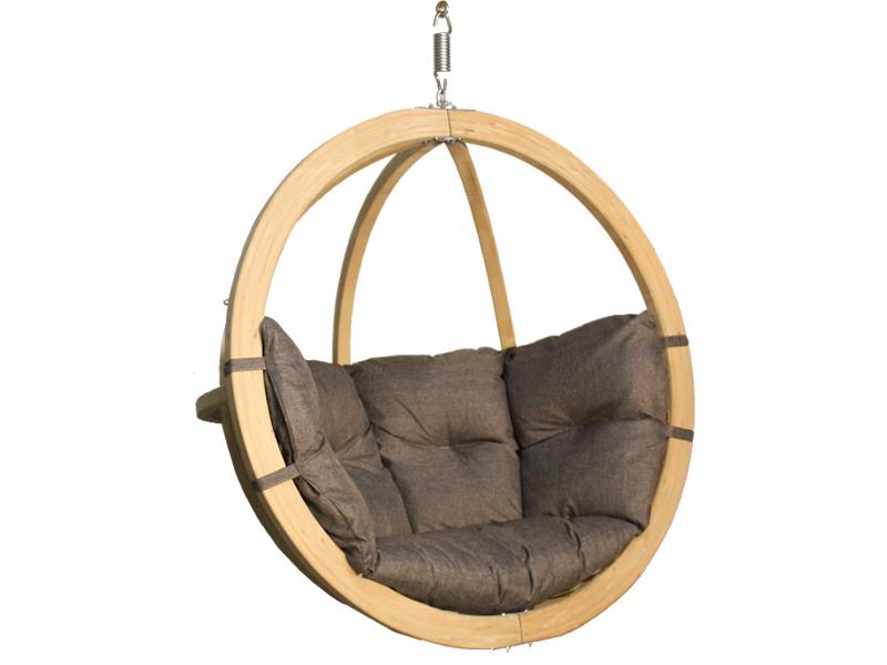 Fotel hamakowy drewniany, grafitowy Swing Chair Single (2)
