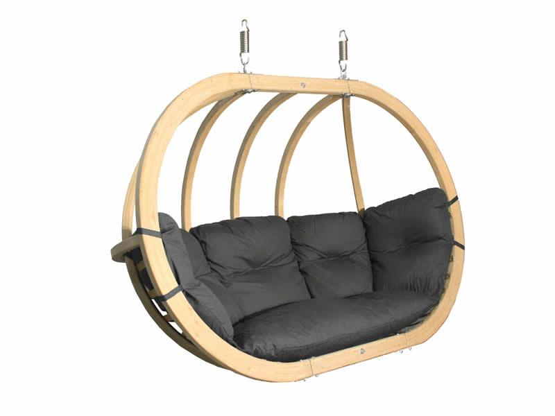 Fotel hamakowy drewniany, Swing Chair Double (3)