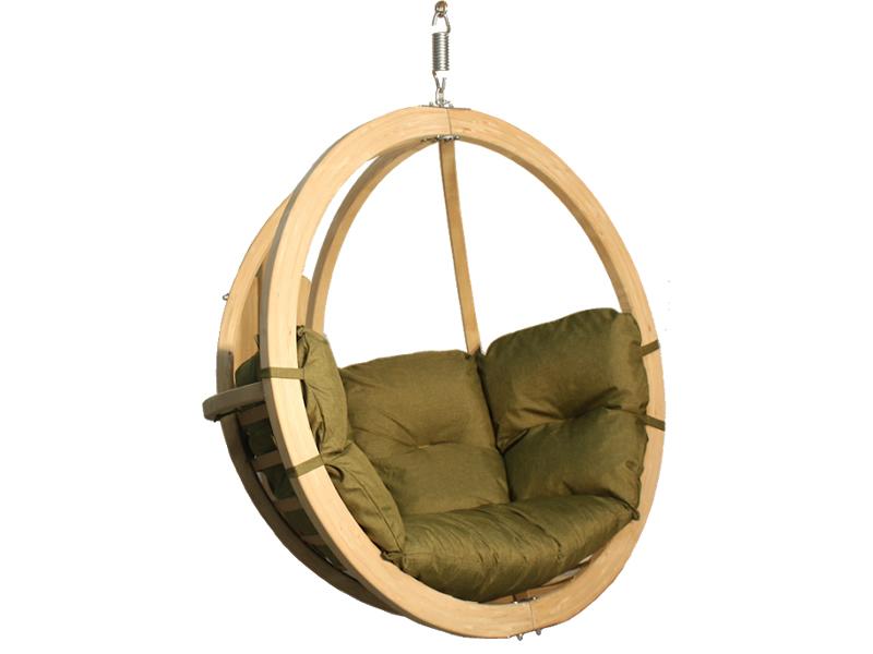 Fotel hamakowy drewniany, pistacjowy Swing Chair Single (2)