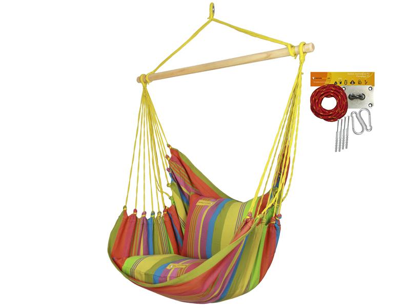 Fotel hamakowy HC10 z zestawem montażowym, Amelie zhc10-256-koala/fix/ch2