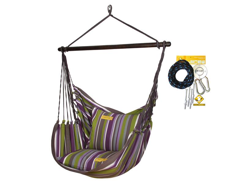 Fotel hamakowy HC10 z zestawem montażowym, Folsom zhc10-254-koala/fix/ch1