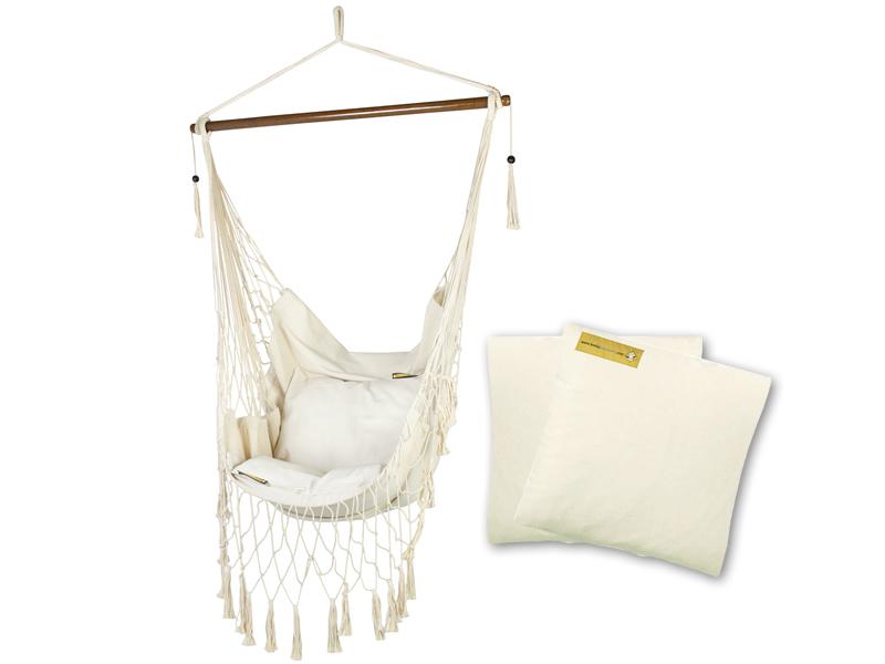 Fotel hamakowy z poduszkami