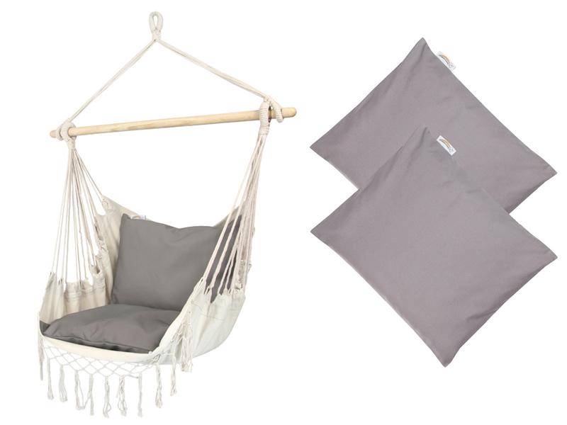 Fotel hamakowy z poduszkami HP, HC-7 + HP - 111