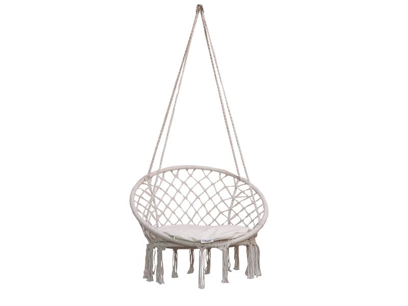 Fotel wiszący z poduszką