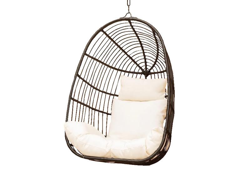 Wiklinowy fotel hamakowy w stylu śródziemnomorskim