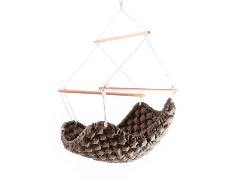Fotel hamakowy, czekoladowy KLARA - 114