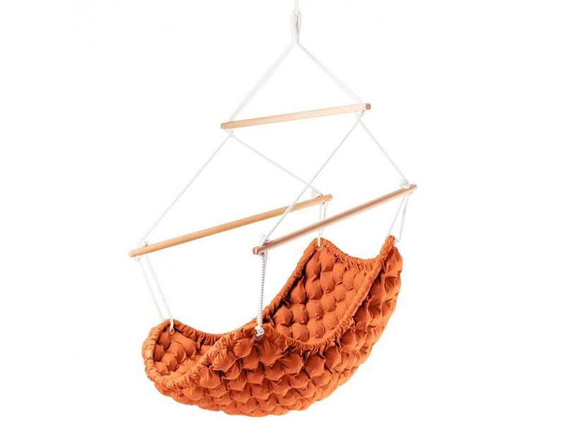 Fotel hamakowy, Pomarańczowy KLARA - 64