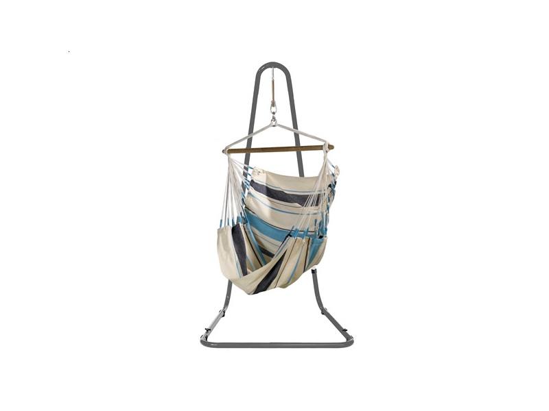 Zestaw hamakowy: fotel hamakowy Caribena ze stojakiem Mediterraneo, CIC14MEA12