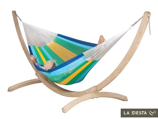 Zestaw hamakowy: siatkowy hamak Mexicana ze stojakiem Canoa, MXH24CNS201