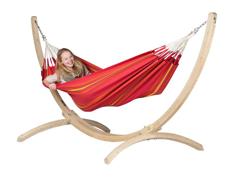 Hammock set: hammock Currambera with stand Canoa, CUH14CNS12-1