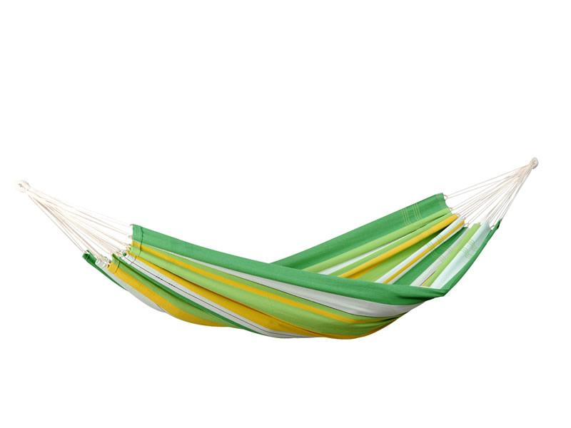 Hamak jednoosobowy, zielono-żółty Lambada