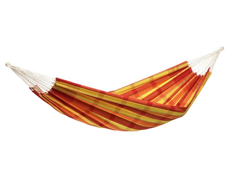 Hamak dwuosobowy, czerwono-żółty Barbados