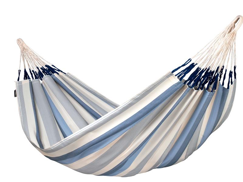 Hamak dwuosobowy Brisa H160, niebiesko-biały BRH16