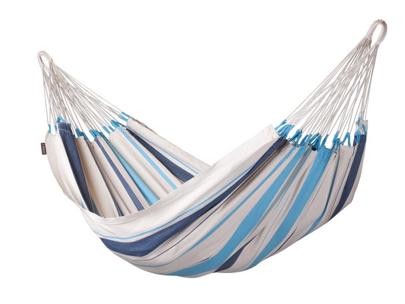 Hamak Caribena H140, niebiesko-biały CIH14