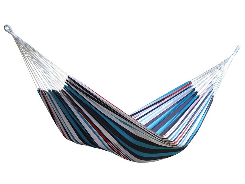 Brazilian Hamak dwuosobowy, niebiesko-biały BRAZ2