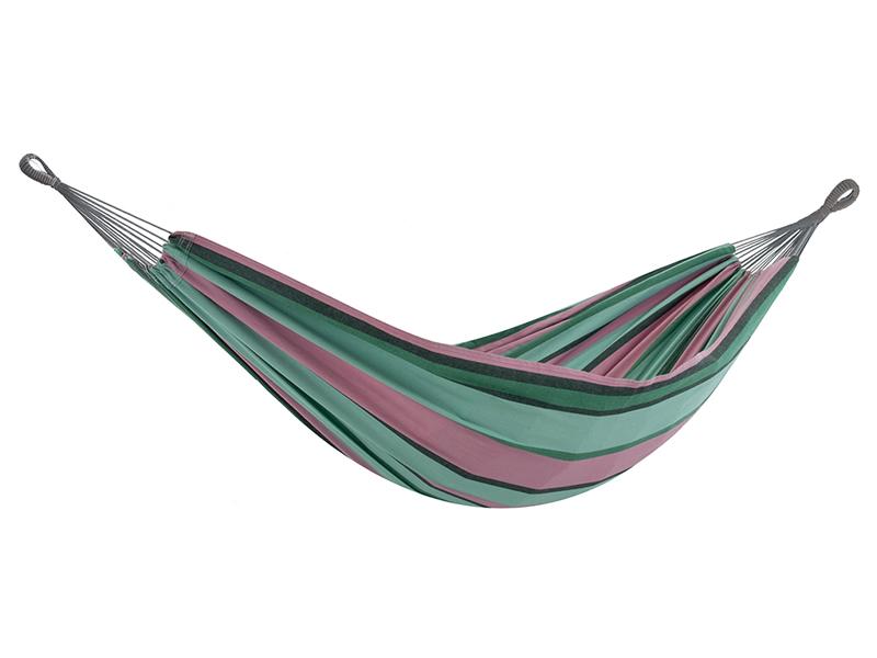 Brazilian Hamak dwuosobowy, różowo-zielony BRAZ2
