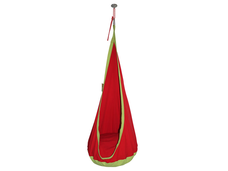 Fotel hamakowy dla dzieci + zestaw montażowy, Czerwony CZ