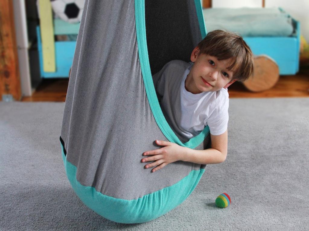 Fotel hamakowy dla dzieci + zestaw montażowy, Kokon