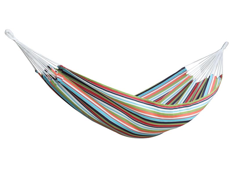 Dwuosobowy hamak Sunbrella, czerwono-niebieski BZSUN