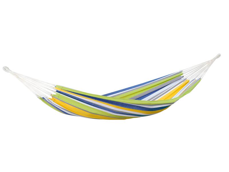 Hamak jednoosobowy, żółto-niebieski Tahiti