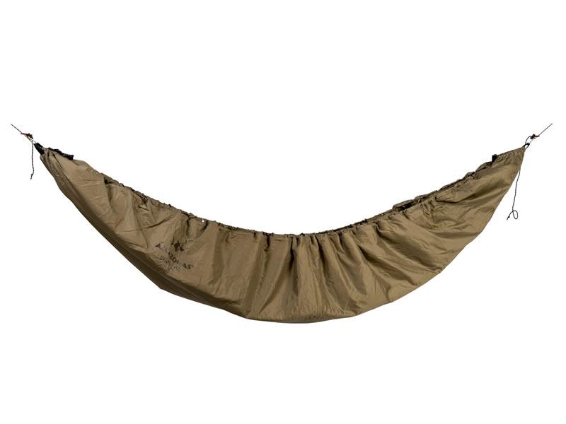 2 w 1: Podkład termiczny do hamaków połączony z poncho, Brązowy Underquilt-Poncho