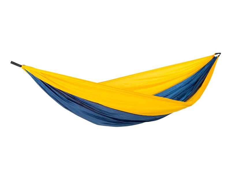 Hamak turystyczny, żółto-niebieski Adventure Hammock XXL