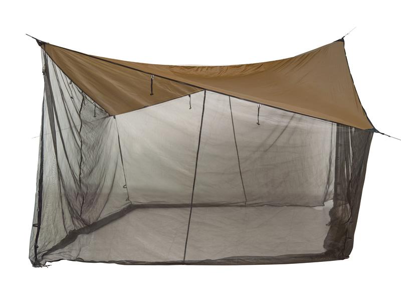 Zadaszenie do hamaka z moskitierą, Brązowy Moskito Tarp