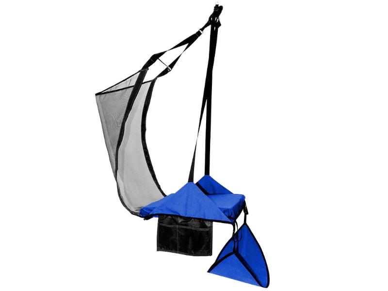 Krzesło 1 osobowe z hamakiem na nogi, Niebieski Crua HoverChair Xtend