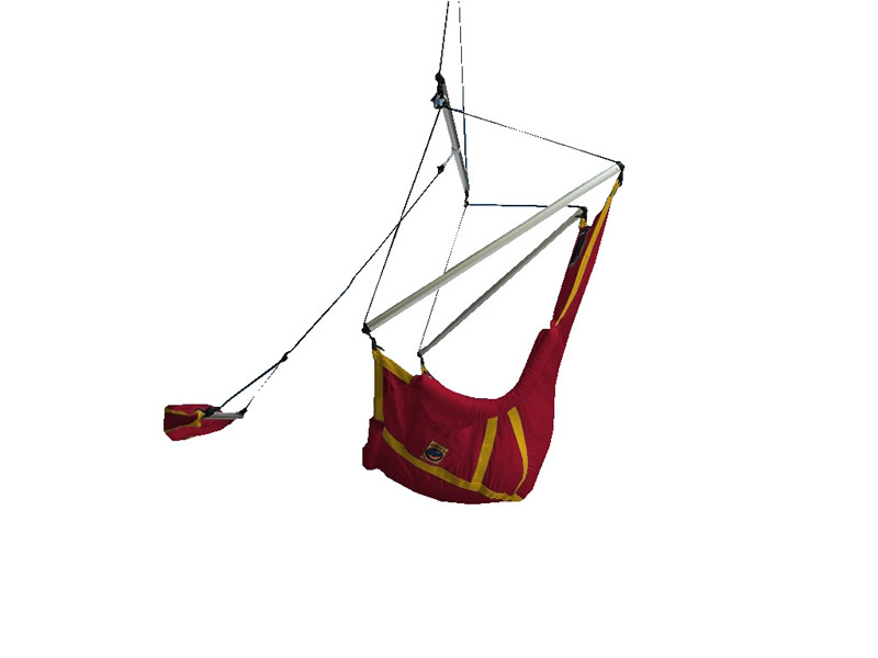 Fotel księżycowy, czerwono-żółty Moonchair