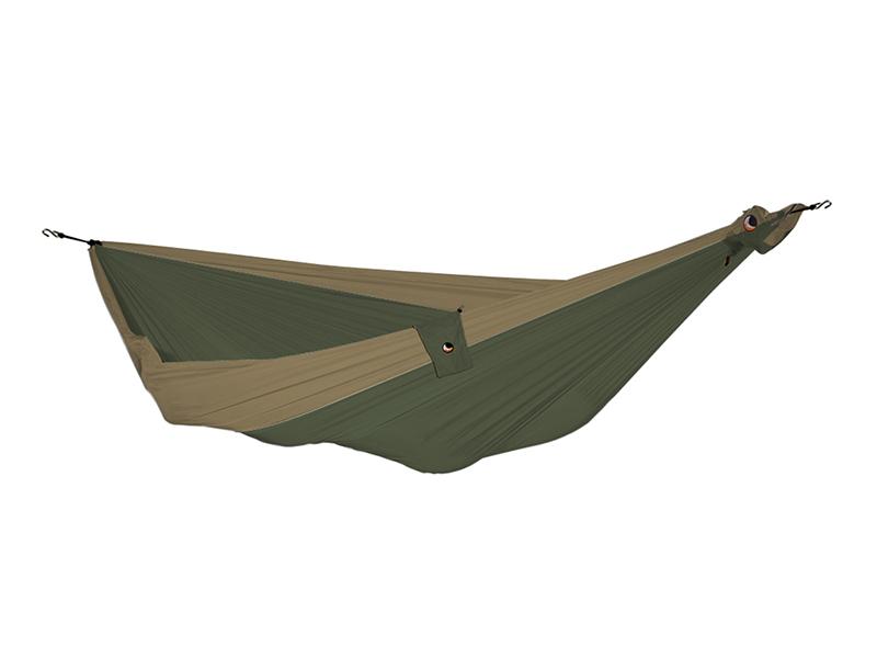 Hamak duży, zielony-brązowy THK-(1)