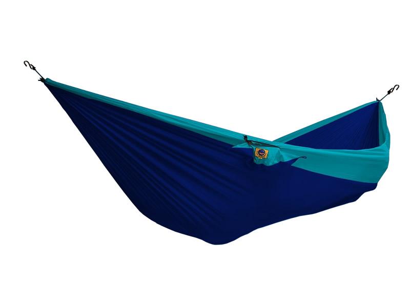 Hamak dwuosobowy, niebiesko-turkusowy THD-(1)