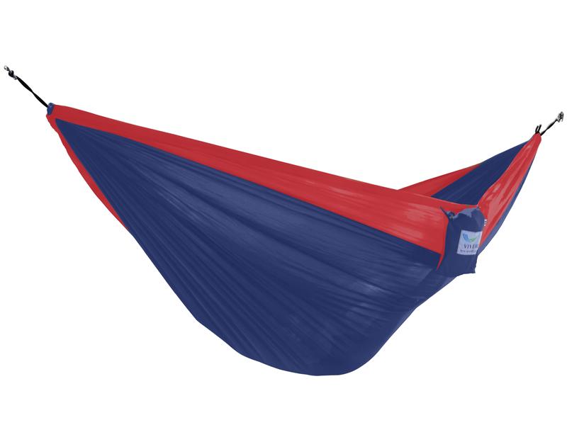 Hamak turystyczny dwuosobowy Parachute, czerwono-niebieski PAR2