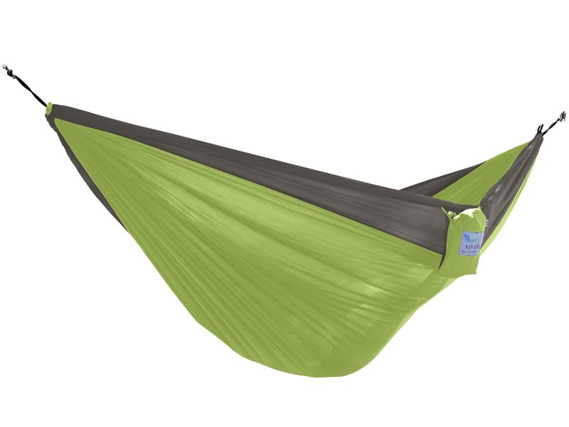 Hamak turystyczny dwuosobowy Parachute, szaro-zielony PAR2