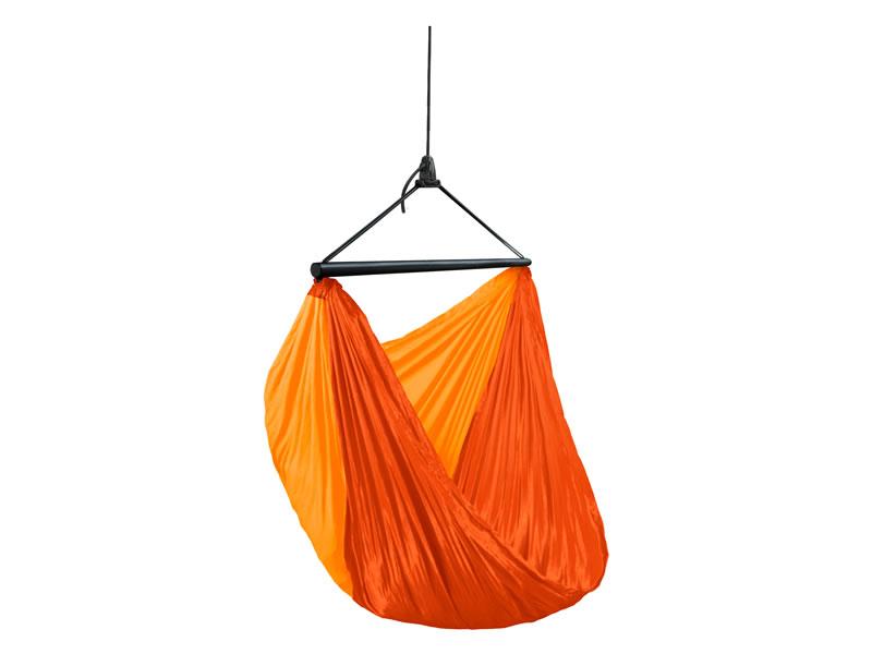 Turystyczny fotel hamakowy z zestawem montażowym, Pomarańczowy ZZV14